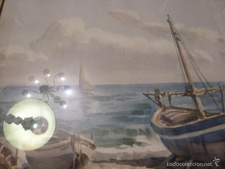 Arte: Acuarela.Marina.FdoAcuarela.Barcos.Fdo:Mariano Brunet Coll. - Foto 7 - 55952589