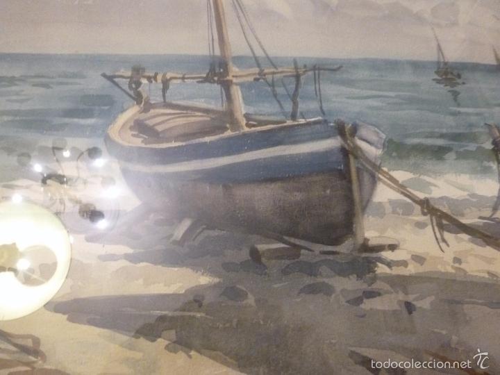 Arte: Acuarela.Marina.FdoAcuarela.Barcos.Fdo:Mariano Brunet Coll. - Foto 8 - 55952589