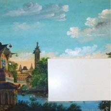 Arte: RESIDENCIA DE KIN-KONG. ACUARELA SOBRE CARTULINA. ESPAÑA. XIX.. Lote 55970862
