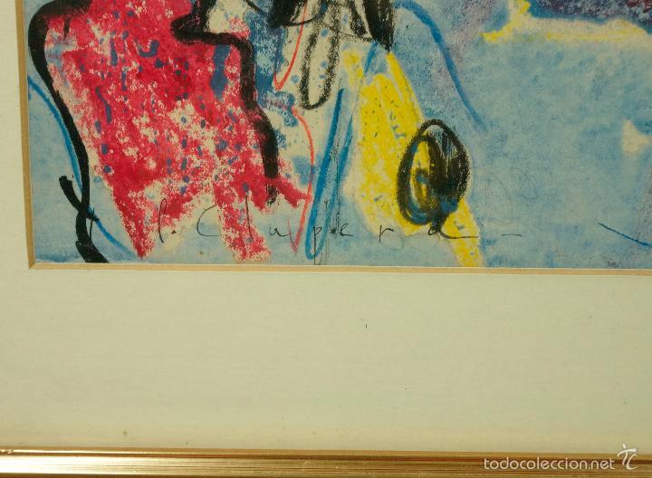 Arte: PERE CLAPERA, ESCENA DE CIRCO, ACUARELA SOBRE PAPEL 28X43CM. MARCO: 57X42 CM. - Foto 2 - 56066661