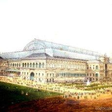 Arte: CRYSTAL PALACE. GRABADO ENRIQUECIDO A LA ACUARELA. FRANCIA(?). XIX.. Lote 56255877
