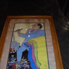 Arte: BON - ANTIGUA ACUARELA FIRMADA BON 1000-900-50-4 ENMARCADA DE EPOCA CON FACTURA DEL COSTE DEL CUADRO. Lote 56258985