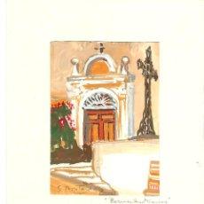 Arte: SIMONE MONTARDE. BORMES-LES-MIMOSAS. ACUARELA. Lote 56265748