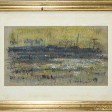 Arte: C2-059. JOSEP VERDAGUER I COMA (1923-2008). ACUARELA. PLANTACIONS DE FLORS. SIGLO XX.. Lote 56268607