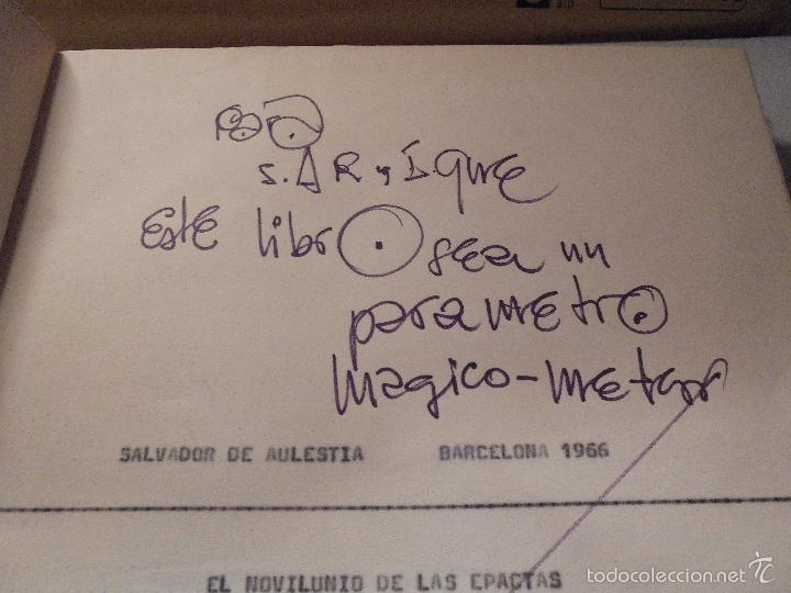 Arte: SALVADOR DE AULESTIA - BARCELONA 1966 PINTURA ORIGINAL MAQUETA LIBRO ESCRITO A MAQUINA Y DIBUJOS A - Foto 4 - 56278594