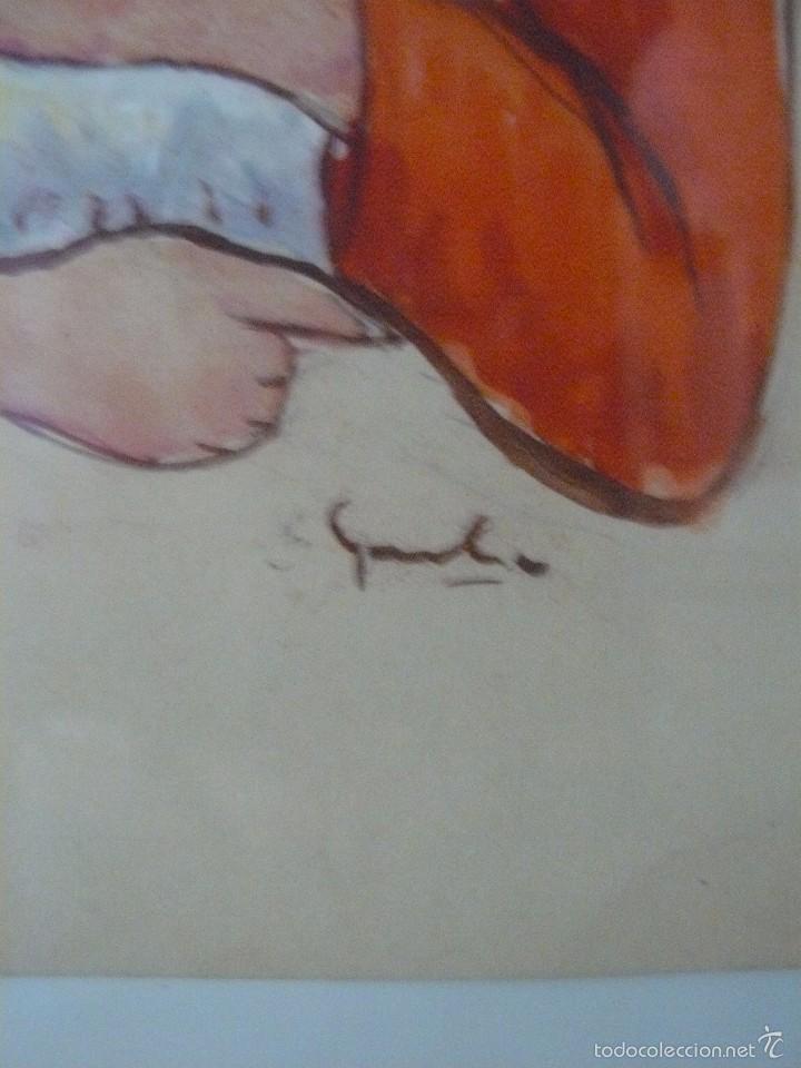 Arte: ACUARELA - FIRMA ILEGIBLE - PASTORCILLA - Foto 4 - 56292753