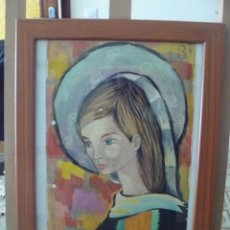 Arte: ACUARELA - FIRMADA TESA - VIRGEN - . Lote 56293682