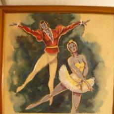 Arte: ESBOZO ACUARELA BALLET. Lote 56307233