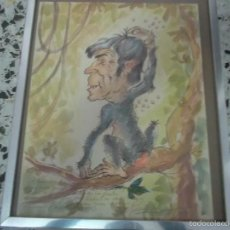 Arte: CARICATURA FIRMADA POR REMIGIO SOLER. Lote 108899551