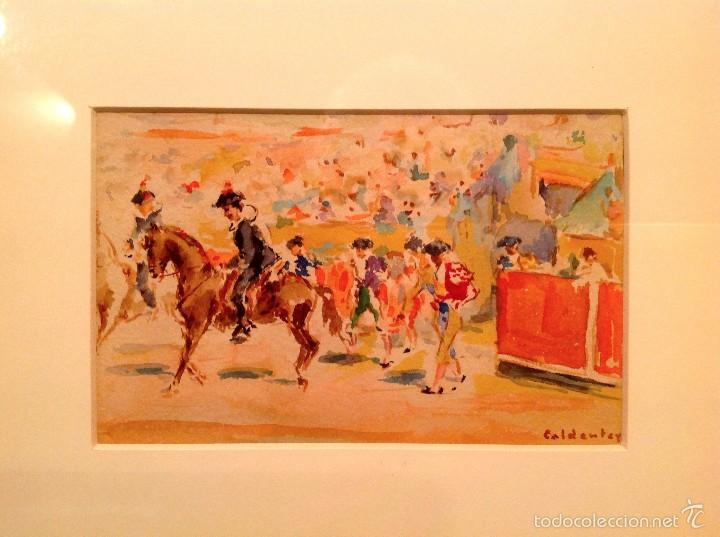 "ACUARELA DEL PINTOR JOAQUIN CALDENTEY SALAVERRI ""QUINITO"" 1911- 1996 (Arte - Acuarelas - Contemporáneas siglo XX)"