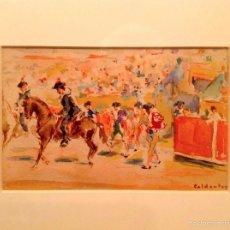 """Arte: ACUARELA DEL PINTOR JOAQUIN CALDENTEY SALAVERRI """"QUINITO"""" 1911- 1996. Lote 56696358"""