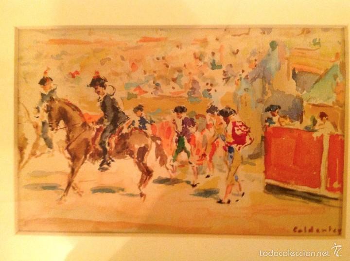 "Arte: Acuarela Del Pintor Joaquin Caldentey Salaverri ""QUINITO"" 1911- 1996 - Foto 2 - 56696358"