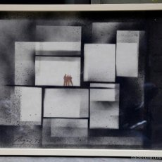 Arte: COMPOSICIÓN. FIRMADO: PAGES, 1973. MARCO: 50X65 CM.. Lote 56731738