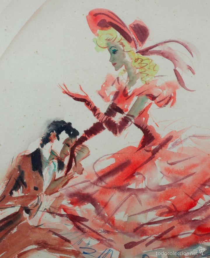Arte: BALLET de Londres, firmado: Clapera. Dedicado, acuarela sobre papel 37x52cm. - Foto 2 - 56777904