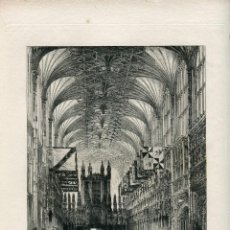 Arte: GRABADO CHAPEL WINDSOR POR HERBERT RAILTON (1857-1910). Lote 56943970