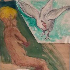 Arte: ACUARELA.OBRA DE J. ROVIRA. AÑOS DESCONOCIDO...TRABAJOS EN TALLER, PRUEBAS Y ESBOZOS INÉDITOS.. Lote 56991512
