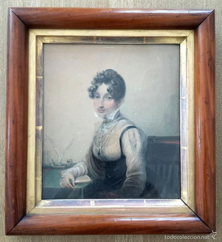 MARAVILLOSA ACUARELA DE JAMES GREEN 1771-1834, MARCO ORIGINAL, EXCELENTE CALIDAD (Arte - Acuarelas - Antiguas hasta el siglo XVIII)