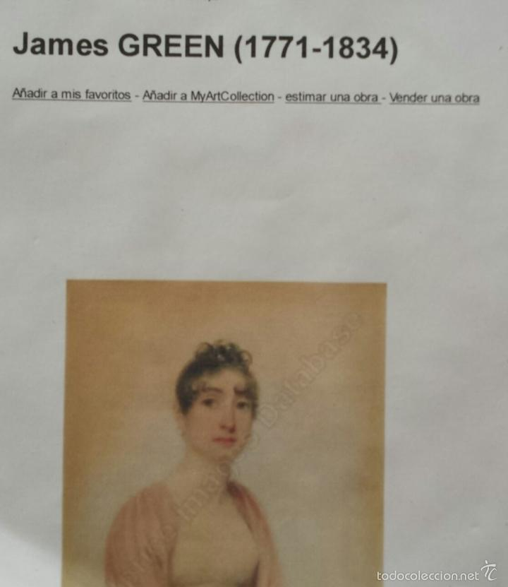 Arte: Maravillosa acuarela de James Green 1771-1834, marco original, excelente calidad - Foto 4 - 57024529