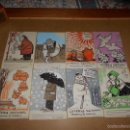 Arte: ESPECTACULAR LOTE DE 8 ACURELAS DOBLE EN CARTON POR HERMANOS MANUEL Y VICENTE SANCHEZ ALGORA 1980. Lote 57072246