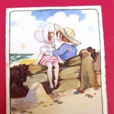 Arte: ACUARELA - AMADEO ROTTIER - 1918 - FIRMADO Y DEDICADO . Lote 57099802