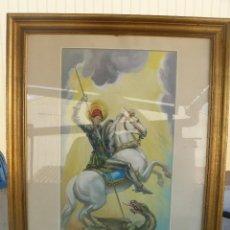 Arte: ACUARELA - FIRMADA V. RODILLA - SAN JORDI MARTIR. Lote 57226435