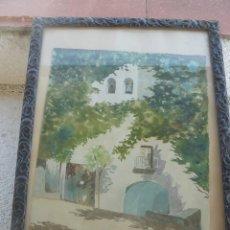 Arte: ACUARELA - FIRMA ILEGIBLE - 1951 - EL REMEDIO - UTIEL. Lote 57226890