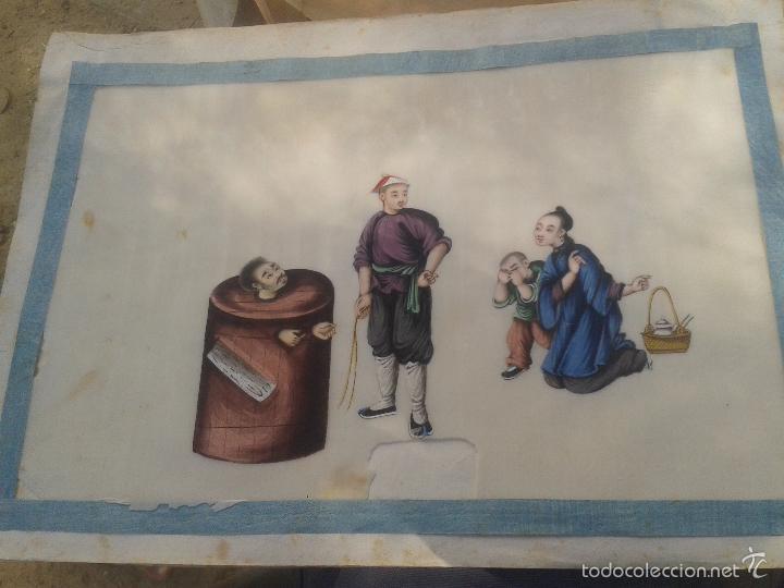 Arte: COLECCION 12 PINTURAS TORTURAS CHINAS , AL ACUARELA SOBRE PAPEL DE ARROZ PARIS 1797 EN LIBRO - Foto 2 - 57236538