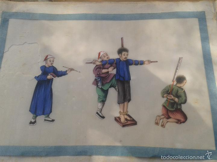 Arte: COLECCION 12 PINTURAS TORTURAS CHINAS , AL ACUARELA SOBRE PAPEL DE ARROZ PARIS 1797 EN LIBRO - Foto 3 - 57236538