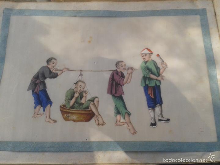 Arte: COLECCION 12 PINTURAS TORTURAS CHINAS , AL ACUARELA SOBRE PAPEL DE ARROZ PARIS 1797 EN LIBRO - Foto 5 - 57236538