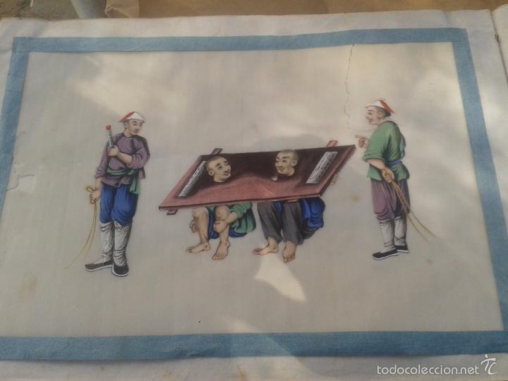 Arte: COLECCION 12 PINTURAS TORTURAS CHINAS , AL ACUARELA SOBRE PAPEL DE ARROZ PARIS 1797 EN LIBRO - Foto 6 - 57236538