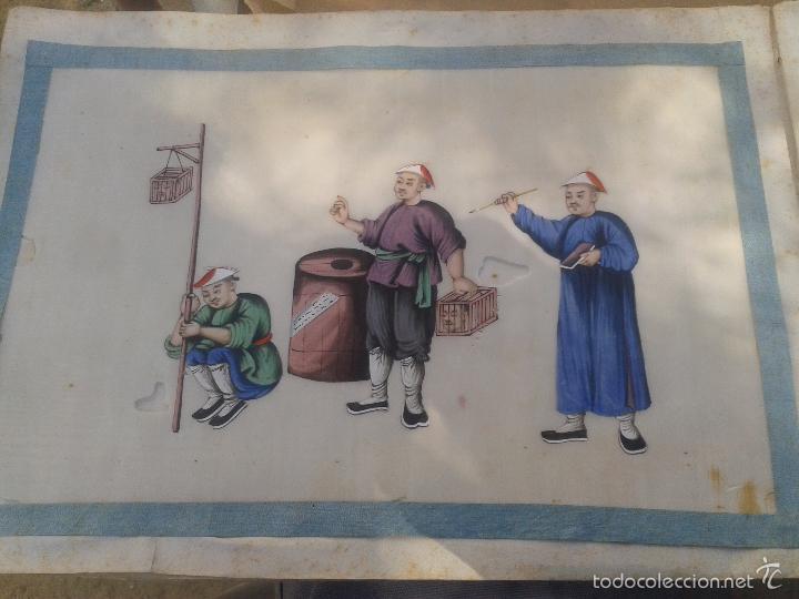 Arte: COLECCION 12 PINTURAS TORTURAS CHINAS , AL ACUARELA SOBRE PAPEL DE ARROZ PARIS 1797 EN LIBRO - Foto 10 - 57236538