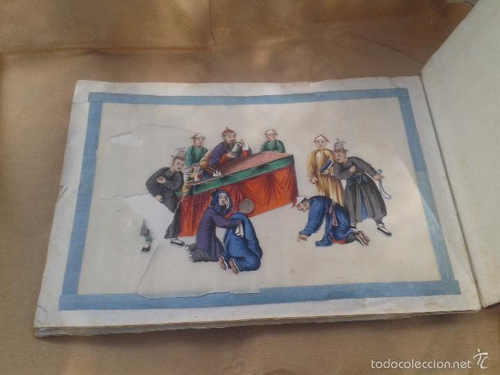 Arte: COLECCION 12 PINTURAS TORTURAS CHINAS , AL ACUARELA SOBRE PAPEL DE ARROZ PARIS 1797 EN LIBRO - Foto 11 - 57236538