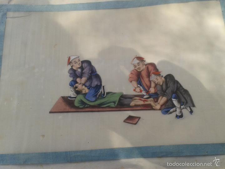 Arte: COLECCION 12 PINTURAS TORTURAS CHINAS , AL ACUARELA SOBRE PAPEL DE ARROZ PARIS 1797 EN LIBRO - Foto 12 - 57236538
