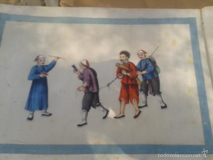 Arte: COLECCION 12 PINTURAS TORTURAS CHINAS , AL ACUARELA SOBRE PAPEL DE ARROZ PARIS 1797 EN LIBRO - Foto 13 - 57236538