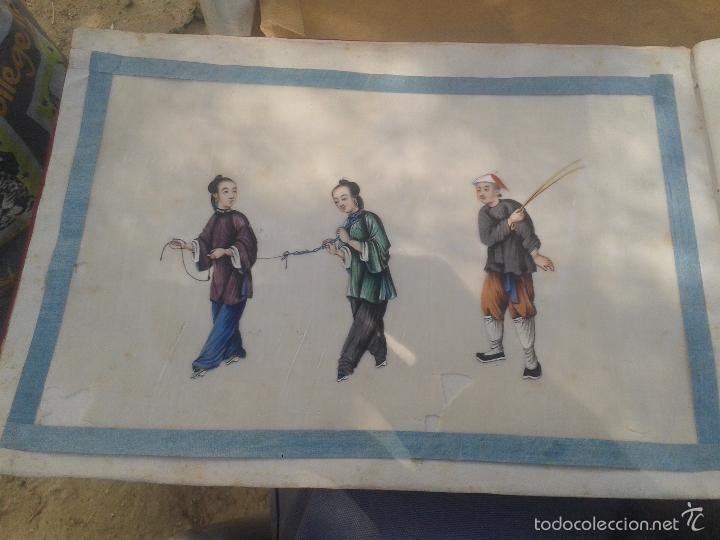 Arte: COLECCION 12 PINTURAS TORTURAS CHINAS , AL ACUARELA SOBRE PAPEL DE ARROZ PARIS 1797 EN LIBRO - Foto 14 - 57236538