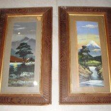 Arte: ANTIGUA PAREJA DE PINTURAS JAPONESAS. S.XIX.. Lote 57254637