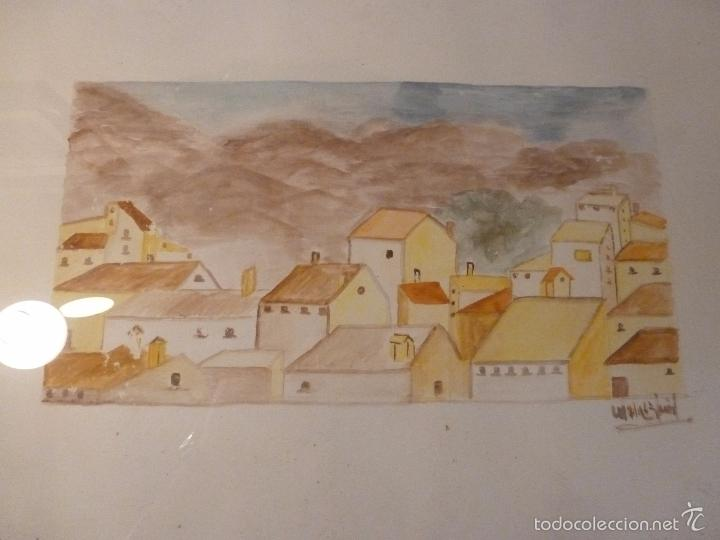 ACUARELA CASAS (Arte - Acuarelas - Contemporáneas siglo XX)