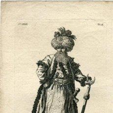 Arte: MUSTAPHA III GRAND SEIGNIOR GRABADO EN 1717. Lote 57320952