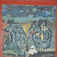 Arte: ACUARELA ORIGINAL , OBRA SIN FIRMAR DE 1960 APROXIMADAMENTE. Lote 57528441