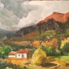Arte: TOMAS SAYOL I SALA BONITA ACUARELA SOBRE CARTON. Lote 57633768