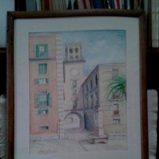 Arte: ACUARELA AYUNTAMIENTO DE ALICANTE. PZA. STA. FAZ. 88. Lote 57715699