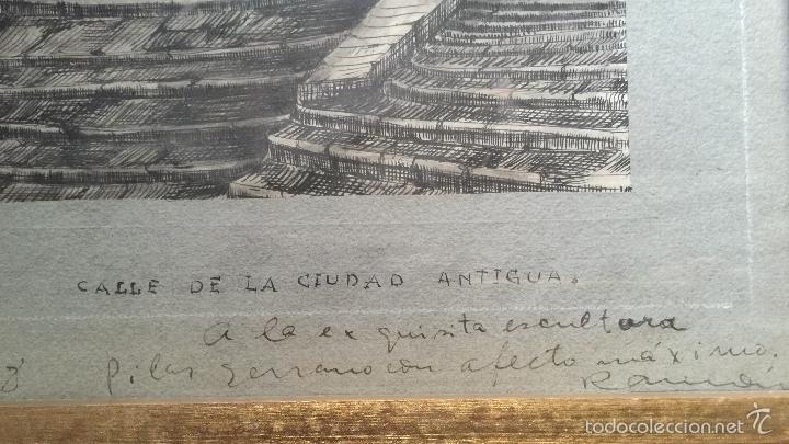 Arte: RAMON ARGILES FONTOVA BUEN DIBUJO A TINTA SOBRE PAPEL GIRONA - Foto 8 - 57762362