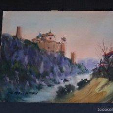 Arte: FELIPE-FELIP BRUGUERAS PALLACH, ( ACUARELA DE, ALQUEZAR, HUESCA ). Lote 57834983