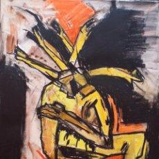 Arte: KOZIK: GOACHE, PIEZA ÚNICA DE 1988, FIRMADA / HOLDERLIN. Lote 57885974