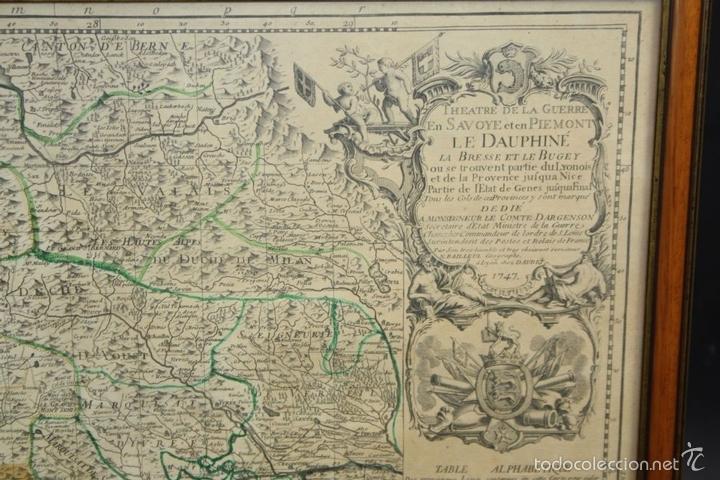 Arte: I3-043. THEATRE DE LA GUERRE(...) LE DAUPHINÉ(...) N. BAILLEUL. IMP. DAUDET. FRANCE.1747 - Foto 2 - 58124730