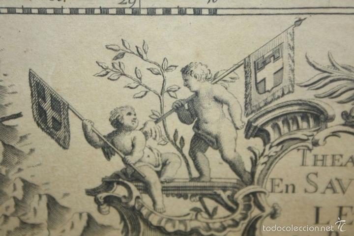Arte: I3-043. THEATRE DE LA GUERRE(...) LE DAUPHINÉ(...) N. BAILLEUL. IMP. DAUDET. FRANCE.1747 - Foto 3 - 58124730