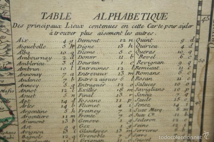 Arte: I3-043. THEATRE DE LA GUERRE(...) LE DAUPHINÉ(...) N. BAILLEUL. IMP. DAUDET. FRANCE.1747 - Foto 5 - 58124730