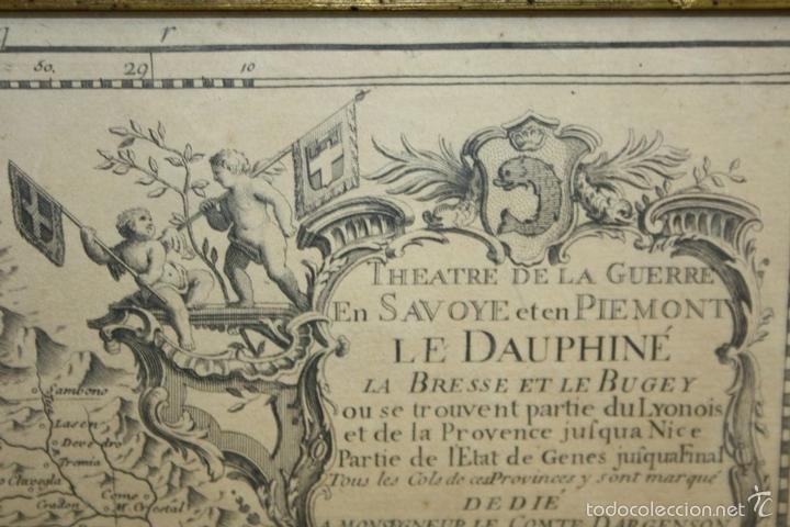 Arte: I3-043. THEATRE DE LA GUERRE(...) LE DAUPHINÉ(...) N. BAILLEUL. IMP. DAUDET. FRANCE.1747 - Foto 6 - 58124730