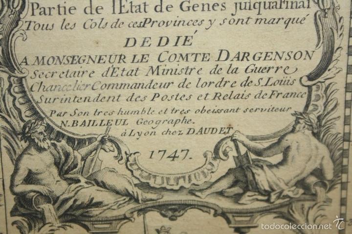Arte: I3-043. THEATRE DE LA GUERRE(...) LE DAUPHINÉ(...) N. BAILLEUL. IMP. DAUDET. FRANCE.1747 - Foto 13 - 58124730