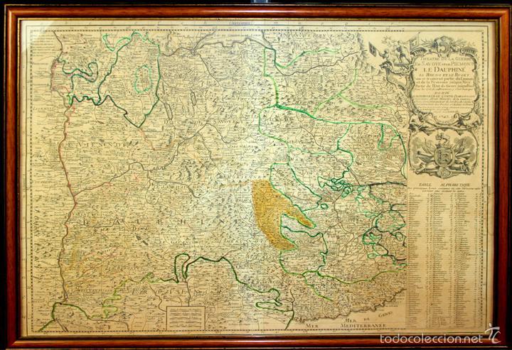 I3-043. THEATRE DE LA GUERRE(...) LE DAUPHINÉ(...) N. BAILLEUL. IMP. DAUDET. FRANCE.1747 (Arte - Acuarelas - Antiguas hasta el siglo XVIII)